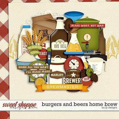 Burgers and Beers Home Brew by LJS Designs