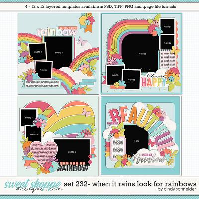 Cindy's Layered Templates - Set 232: When It Rains Look for Rainbows by Cindy Schneider