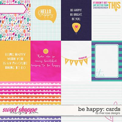 Be Happy: Cards by River Rose Designs