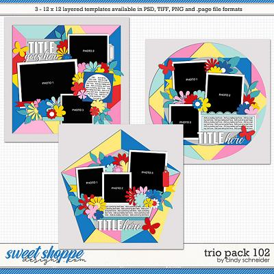 Cindy's Layered Templates - Trio Pack 102 by Cindy Schneider