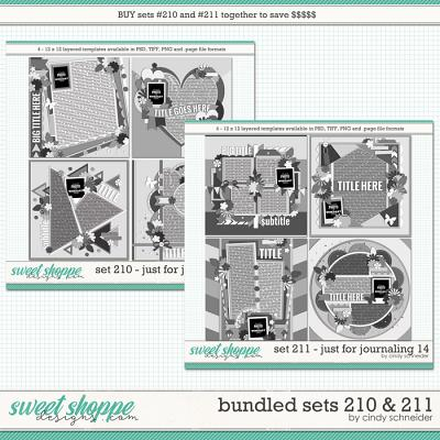 Cindy's Layered Templates - Bundled Sets #210-211 by Cindy Schneider