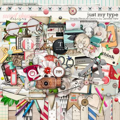Just My Type Kit:  Simple Pleasure Designs by Jennifer Fehr