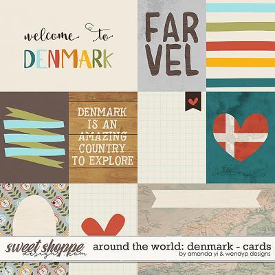 Around the world: Denmark cards by Amanda Yi & WendyP Designs