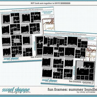 Cindy's Layered Templates - Fun Frames Summer Bundle by Cindy Schneider