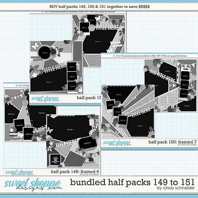 Cindy's Layered Templates - Bundled Half Packs #149-151 by Cindy Schneider