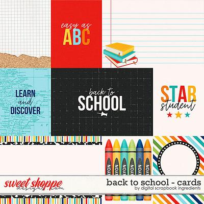 Back To School | Cards by Digital Scrapbook Ingredients