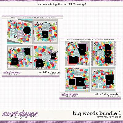 Cindy's Layered Templates - Big Words Bundle 1 by Cindy Schneider