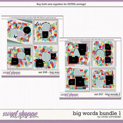 Cindy's Layered Templates - Big Words Bundle 1 by Cindy Schneider