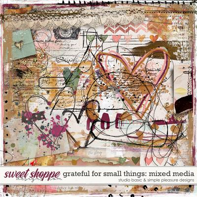 Grateful For Small Things Mixed Media by Simple Pleasure Designs and Studio Basic