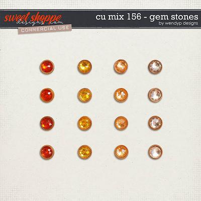 CU Mix 156 - gem stones by WendyP Designs