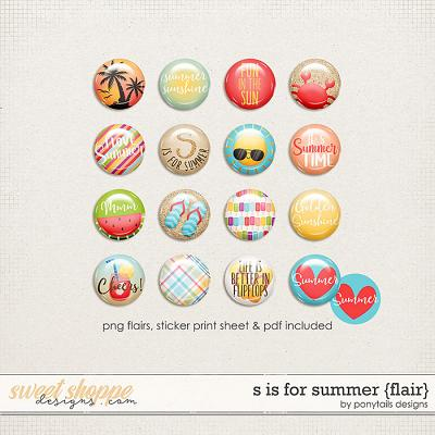 S is for Summer Flair by Ponytails