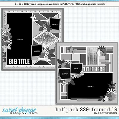 Cindy's Layered Templates - Half Pack 229: Framed 19  by Cindy Schneider