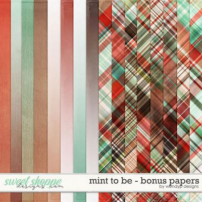 Mint to be - bonus papers by WendyP Designs