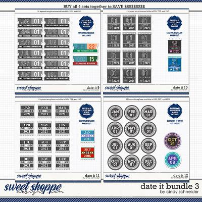 Cindy's Layered Templates - Date It Bundle 3 by Cindy Schneider