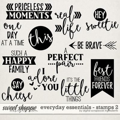 Everyday Essentials | Stamps 2 by Digital Scrapbook Ingredients