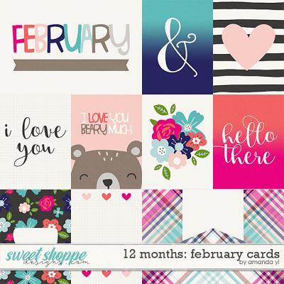 12 Months: February Cards by Amanda Yi
