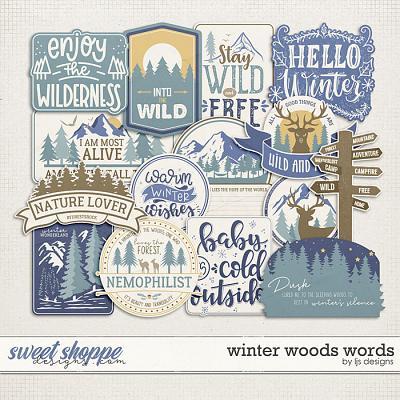 Winter Woods Words by LJS Designs