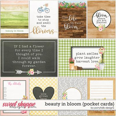 Beauty in Bloom Pocket Cards by Ponytails