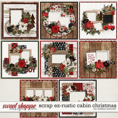 Scrap EZ-Rustic Cabin Christmas by Melissa Bennett