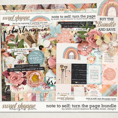 Note To Self: Turn The Page Bundle by Kristin Cronin-Barrow & Studio Basic