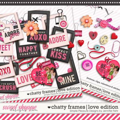 chatty frames LOVE edition: Simple Pleasure Designs by Jennifer Fehr