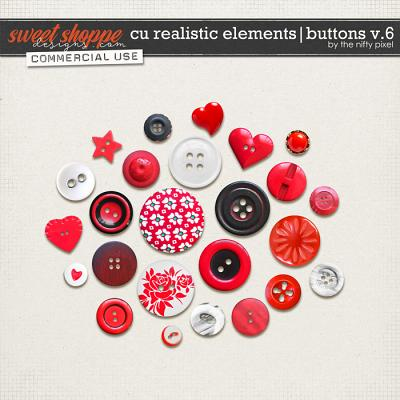 CU REALISTIC ELEMENTS | BUTTONS V.6 by The Nifty Pixel
