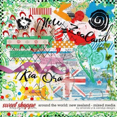 Around the world: New Zealand - Mixed Media by Amanda Yi & WendyP Designs