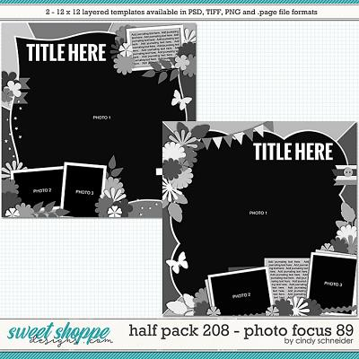Cindy's Layered Templates - Half Pack 208: Photo Focus 89 by Cindy Schneider
