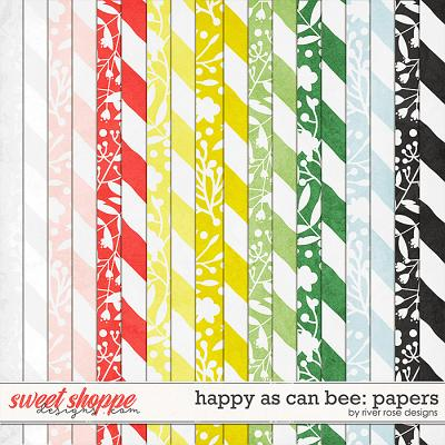 Happy As Can Bee: Papers by River Rose Designs