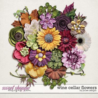 Wine Cellar Flowers by JoCee Designs