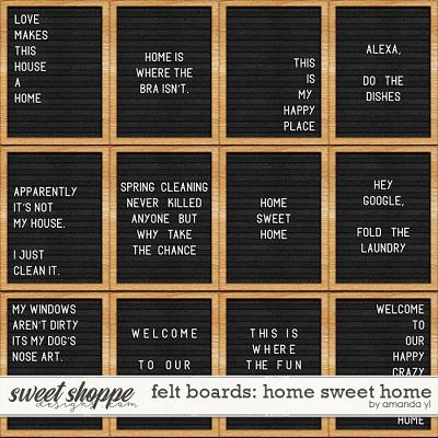 Felt Boards: Home Sweet Home by Amanda Yi