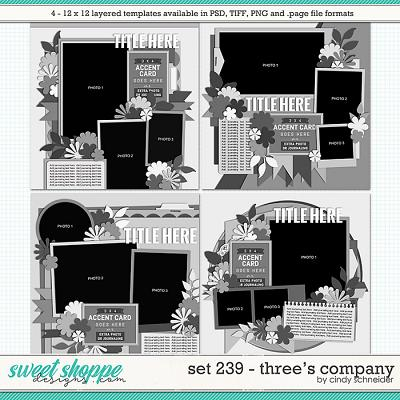 Cindy's Layered Templates - Set 239: Three's Company by Cindy Schneider