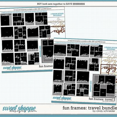 Cindy's Layered Templates - Fun Frames Travel Bundle by Cindy Schneider