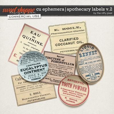CU EPHEMERA | APOTHECARY LABELS V.2 by The Nifty Pixel