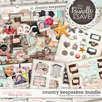 Country Keepsakes BUNDLE:  Simple Pleasure Designs by Jennifer Fehr