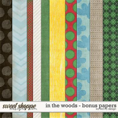 In The Woods - Bonus Papers by Red Ivy Design