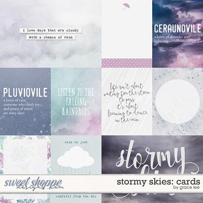 Stormy Skies: Cards by Grace Lee