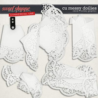 CU Messy Doilies by Clever Monkey Graphics