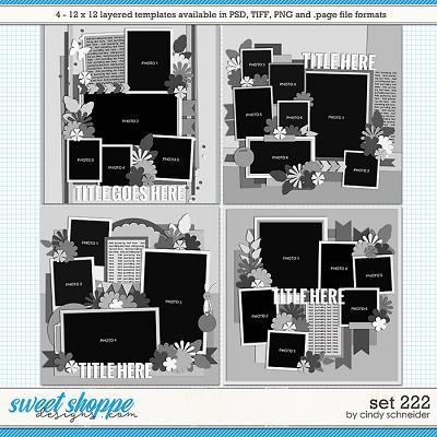 Cindy's Layered Templates - Set 222 by Cindy Schneider