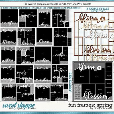 Cindy's Layered Templates - Fun Frames: Spring by Cindy Schneider