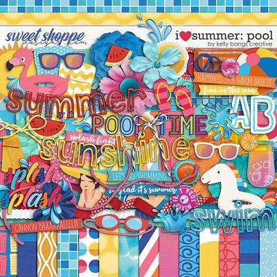I Heart Summer: Pool by Kelly Bangs Creative