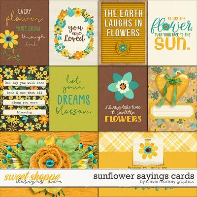 Sunflower Sayings Cards by Clever Monkey Graphics