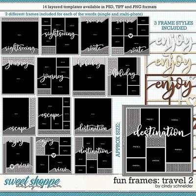 Cindy's Layered Templates - Fun Frames: Travel 2 by Cindy Schneider