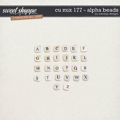CU Mix 177 - alpha beads by WendyP Designs