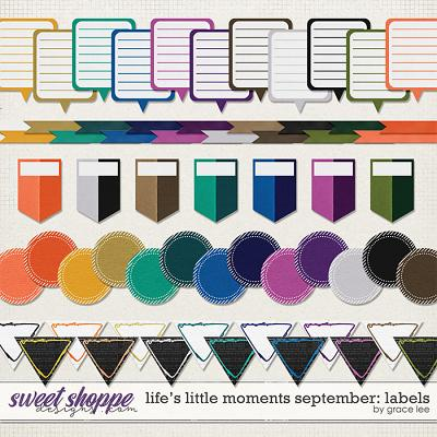 Life's Little Moments September: Labels by Grace Lee