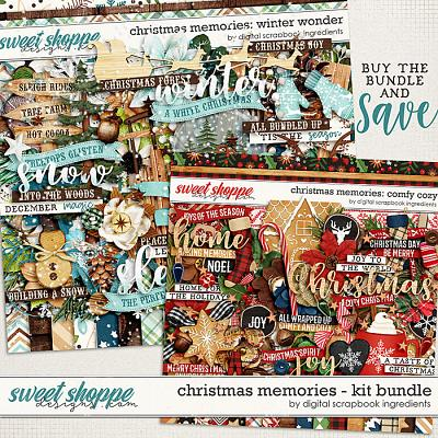 Christmas Memories Kit Bundle by Digital Scrapbook Ingredients
