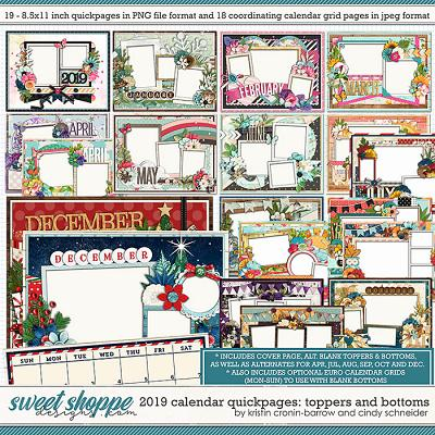 2019 Quickpage Calendars by Cindy Schneider & Kristin Cronin-Barrow