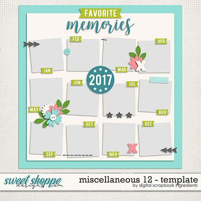 Miscellaneous 12 Template by Digital Scrapbook Ingredients