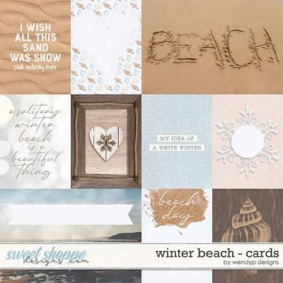 Winter beach - cards by WendyP Designs