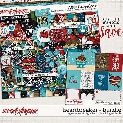Heartbreaker: Bundle by Digital Scrapbook Ingredients and Grace Lee